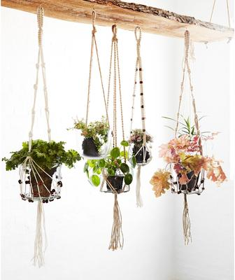 Hanging Glass Planter with Jute Cord image 4