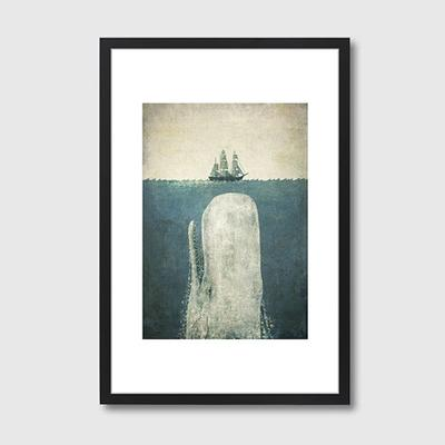White Whale Framed Print