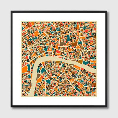 London Map Framed Print