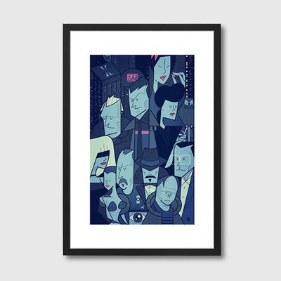 Blade Runner Quirky Framed Print