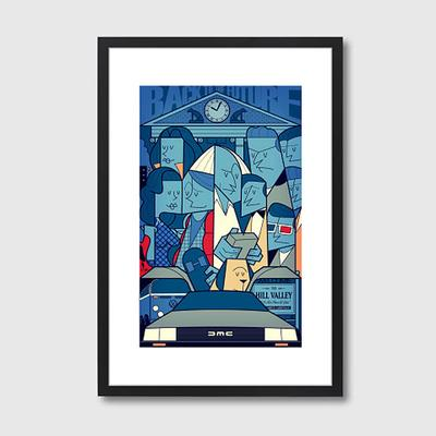 Back to the Future Quirky Framed Print