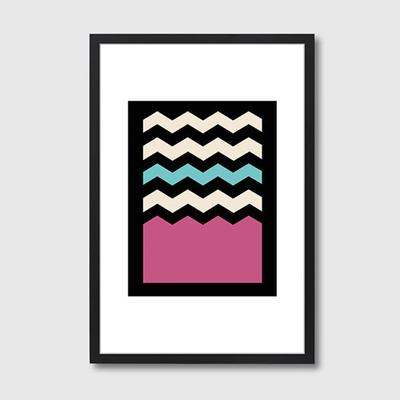 Geometric Chevron Colours 2 Framed Print