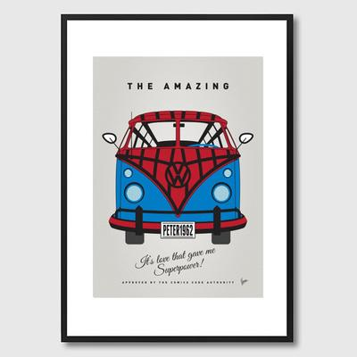 My Superhero VW Spiderman Framed Print