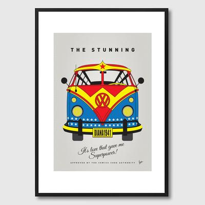 My Superhero VW Wonder Woman Framed Print