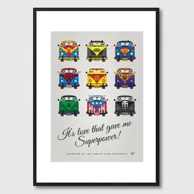 My Superhero VW Universe Framed Print