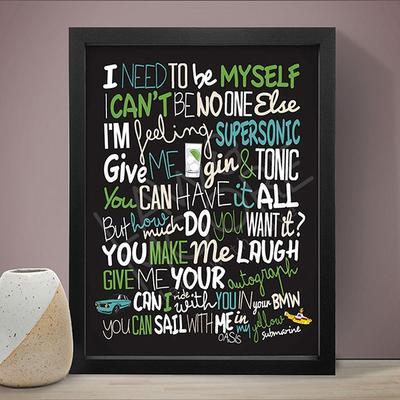 Oasis Supersonic Lyrics Art Print