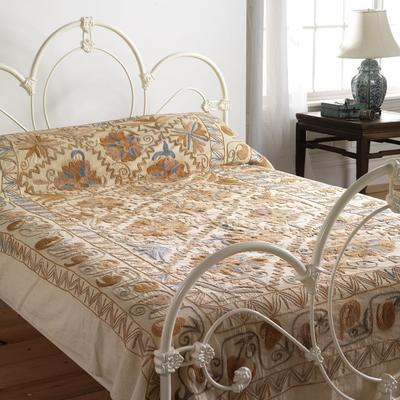Embroidered Suzani bedspread
