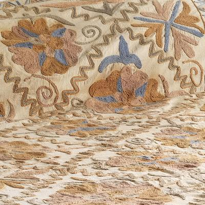 Embroidered Suzani bedspread image 2