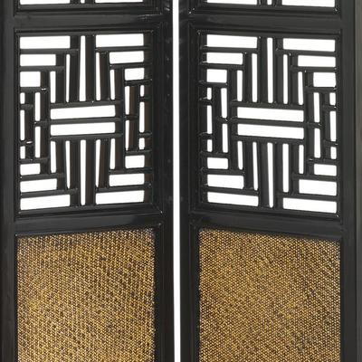 Carved Ming Screen, Black Lacquer image 3