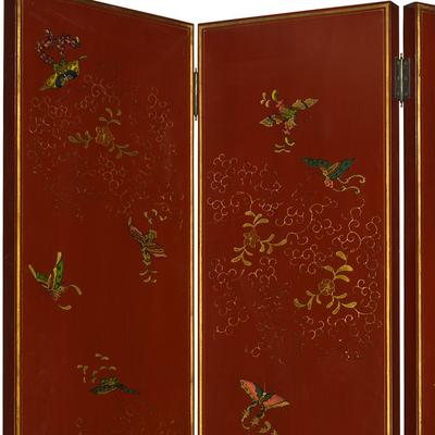 Shanxi Butterfly Screen, Red Lacquer image 2
