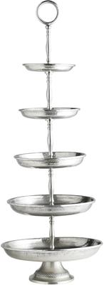 Silver Etagere Cake Stand Five Tiers