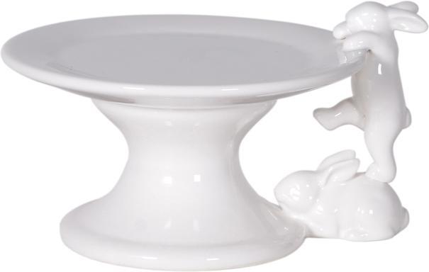 Ceramic Rabbit Cup Cake Stand