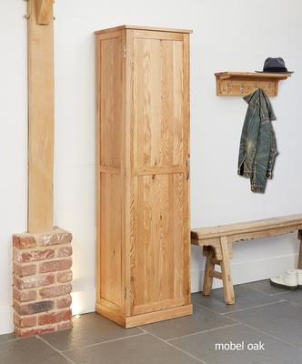 Mobel Oak Tall Shoe Cupboard Modern Design image 2