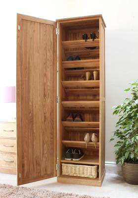 Mobel Oak Tall Shoe Cupboard Modern Design image 5