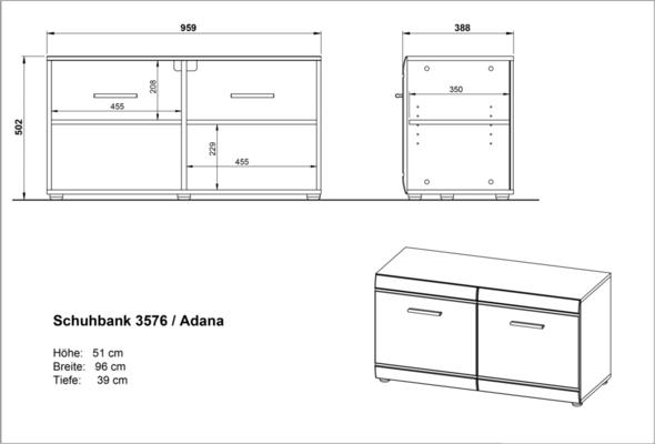 Adelle Small Storage Cupboard - White image 5