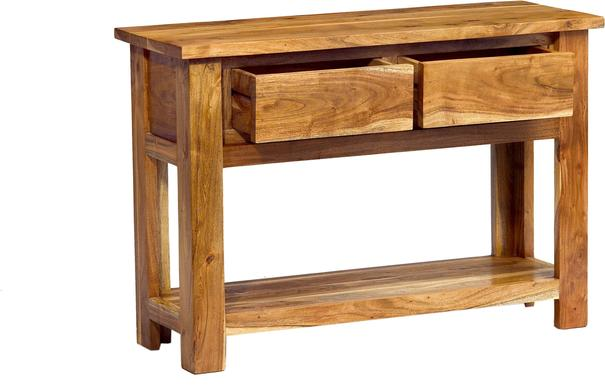 Acacia Solid Wood Console Table image 3