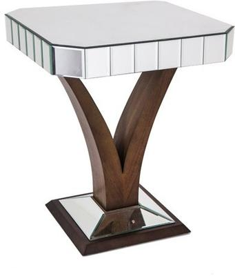 Mirrored Side Table Art Deco image 2