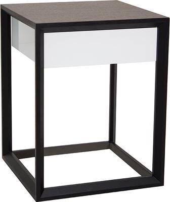 Corso Wenge Oak/White High Gloss Drawer Bedside Table