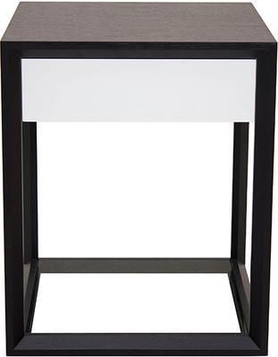 Corso Wenge Oak/White High Gloss Drawer Bedside Table image 2