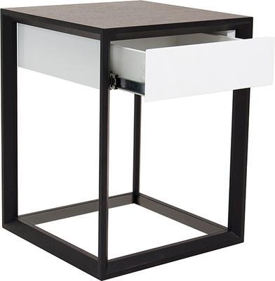 Corso Wenge Oak/White High Gloss Drawer Bedside Table image 3