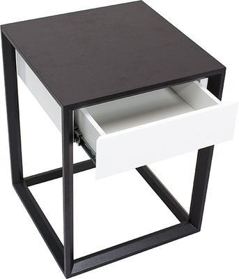 Corso Wenge Oak/White High Gloss Drawer Bedside Table image 4