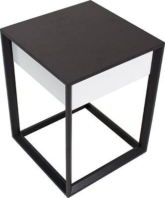 Corso Wenge Oak/White High Gloss Drawer Bedside Table image 5