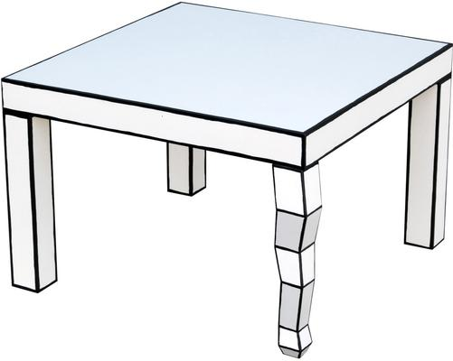 Cartoon Side Table French Quirky Design