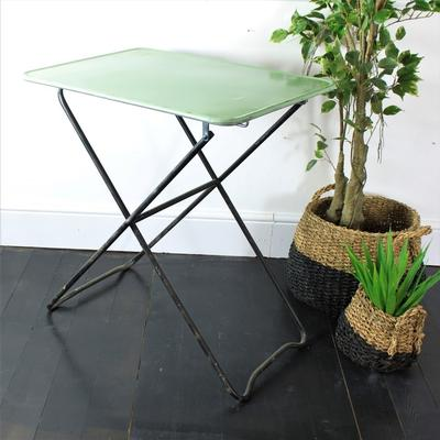 Folding Metal Table in Lt Green image 4