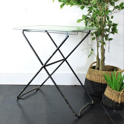Folding Metal Table in Lt Green image 5