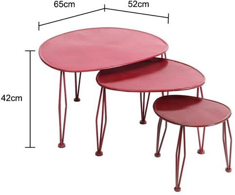 Metal Side Tables - Set of 3 image 2