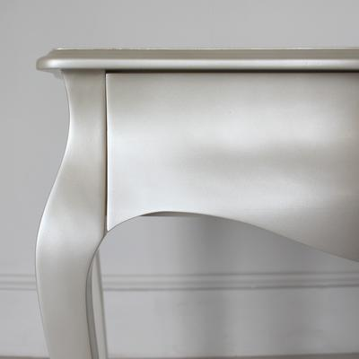Curvy French Small Side Table in Pearlescent Creamy White image 4