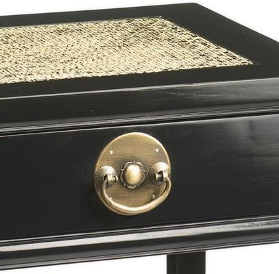 Carved Side Table, Black Lacquer image 2
