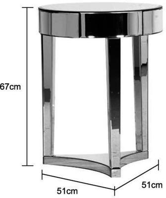 Mirrored Circular Side Table image 2