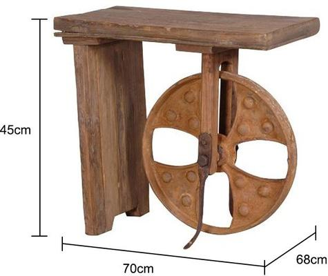Big Wheel Side Table image 2
