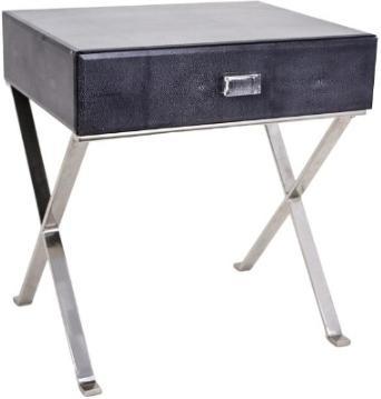 Cross-Leg Shagreen Side Table