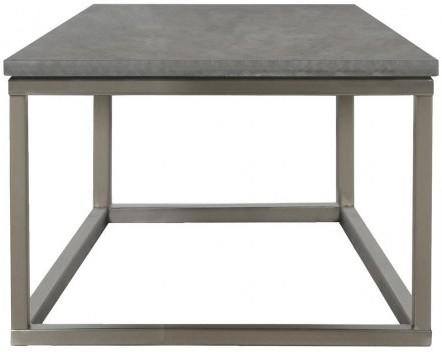 Bran Modern Lamp Table Black Marble Top and Nickel
