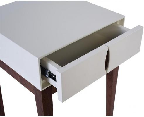 Lux 1 drawer lamp table image 2