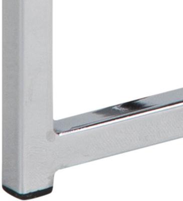 Cross Modern Nest of Tables Black Glass Top Chrome Frame image 5