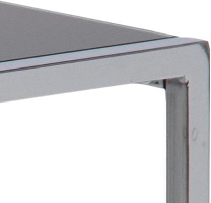 Cross Modern Nest of Tables Black Glass Top Chrome Frame image 6