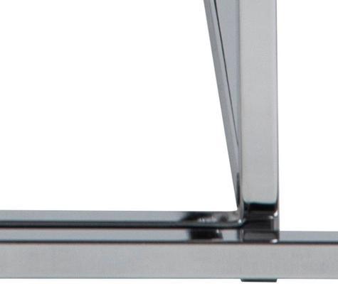 Cross Modern Nest of Tables Black Glass Top Chrome Frame image 7