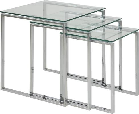 Katrina Nest of Tables Glass Top Metal Frame