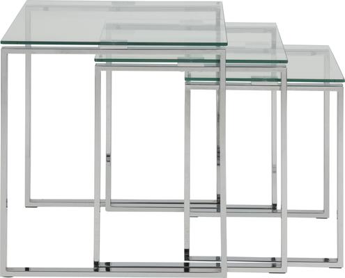 Katrina Nest of Tables Glass Top Metal Frame image 4
