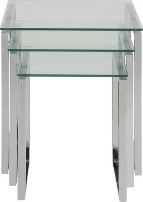 Katrina Nest of Tables Glass Top Metal Frame image 5