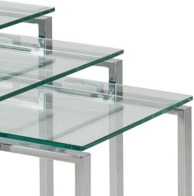Katrina Nest of Tables Glass Top Metal Frame image 4