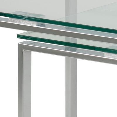 Katrina Nest of Tables Glass Top Metal Frame image 8