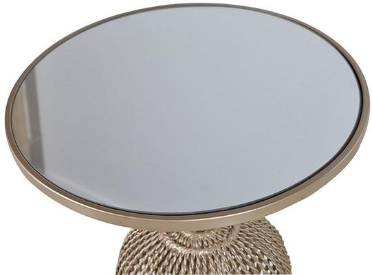 Glass-Topped Ornate Side Table