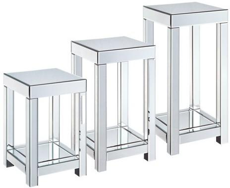 Mirrored Side Table - 3 sizes image 2