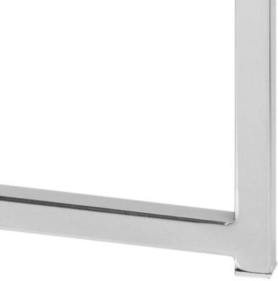 Cross Modern Square Lamp Table Glass Top Metal Frame image 10