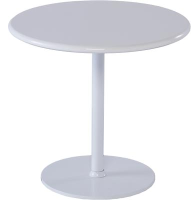 Walter Modern Circular Side Table - White Gloss Lacquer image 2