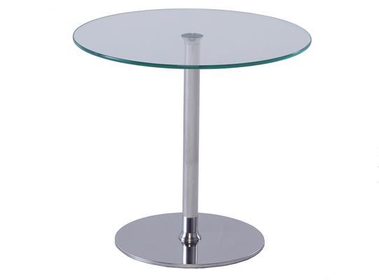 Circular glass top side table - Walter range image 2